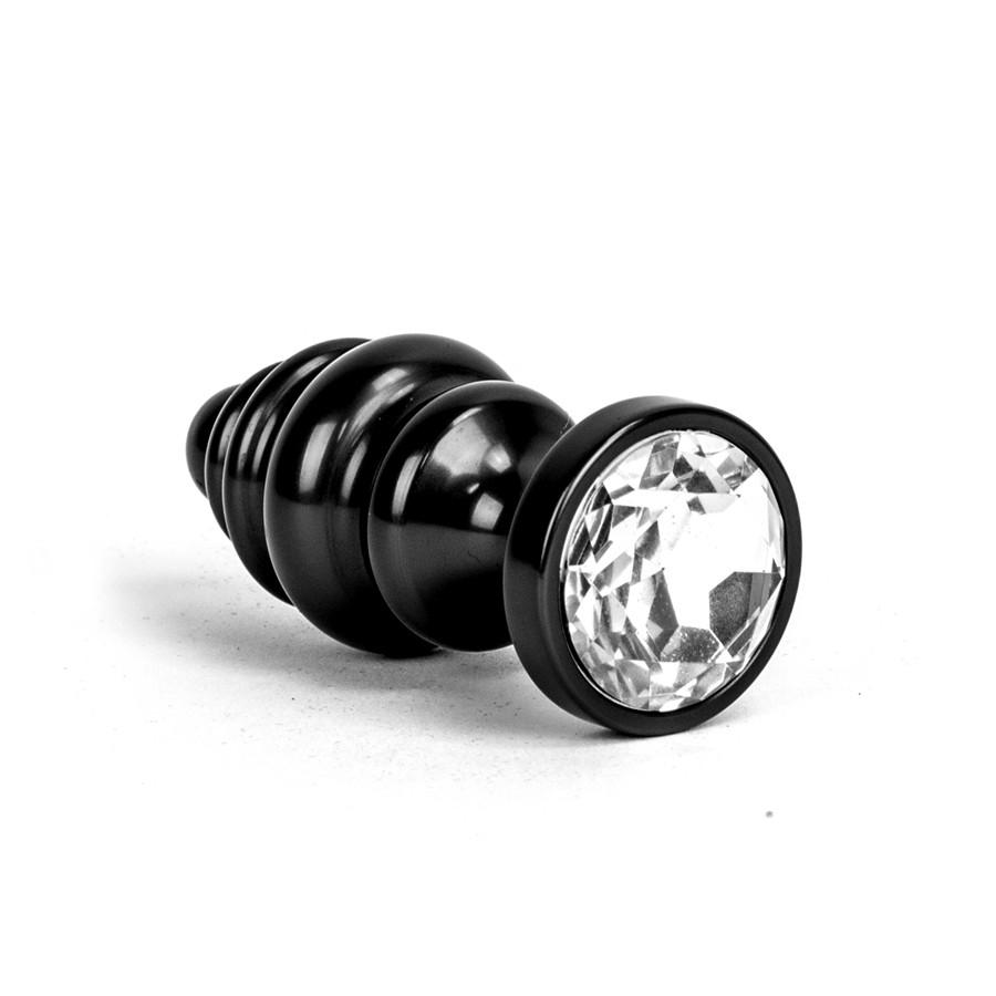 Image of Aluminium Alloy Anaal Plug - Zwart