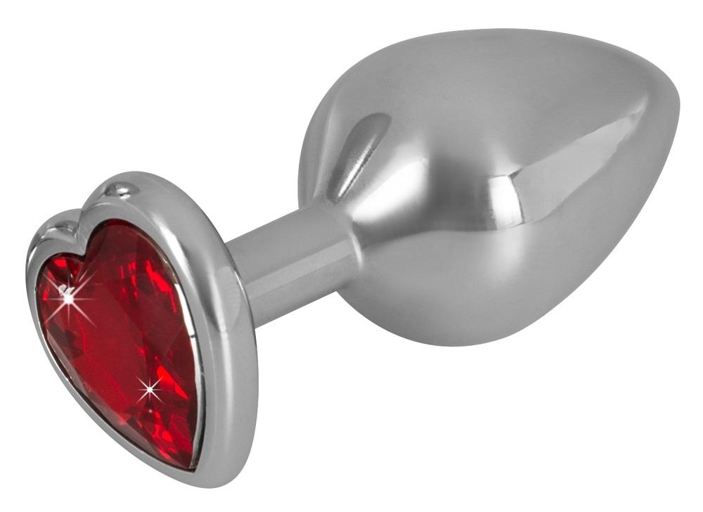 Image of Aluminium Buttplug met Hartjes Diamand