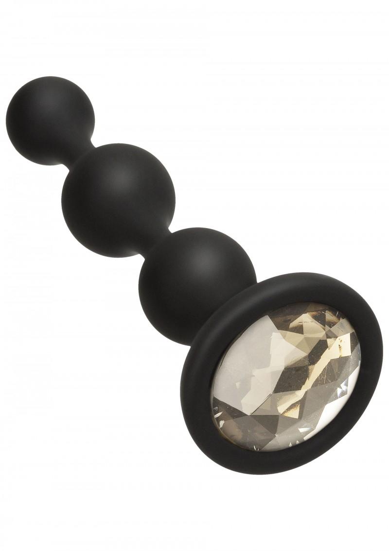 Image of Anale Beads met Bling Steen - Zilver
