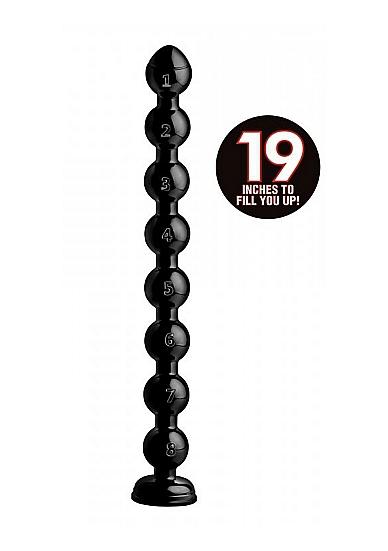 Image of Beaded Thick Anal Snake Anaaldildo - 19 inch