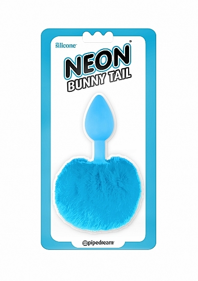 Image of Buttplug met Bunny Tail - Blauw