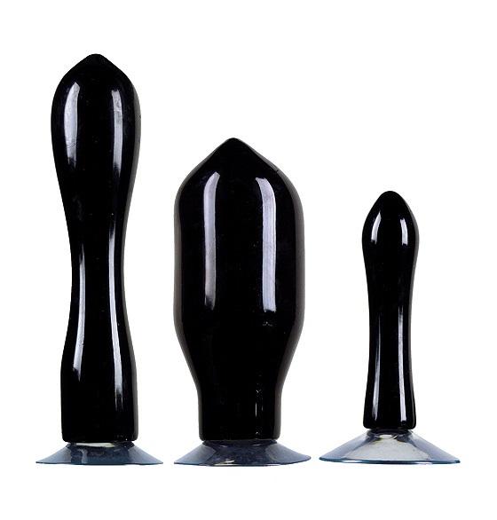 Image of Buttplug Set Butt Out met Zuignap - Zwart