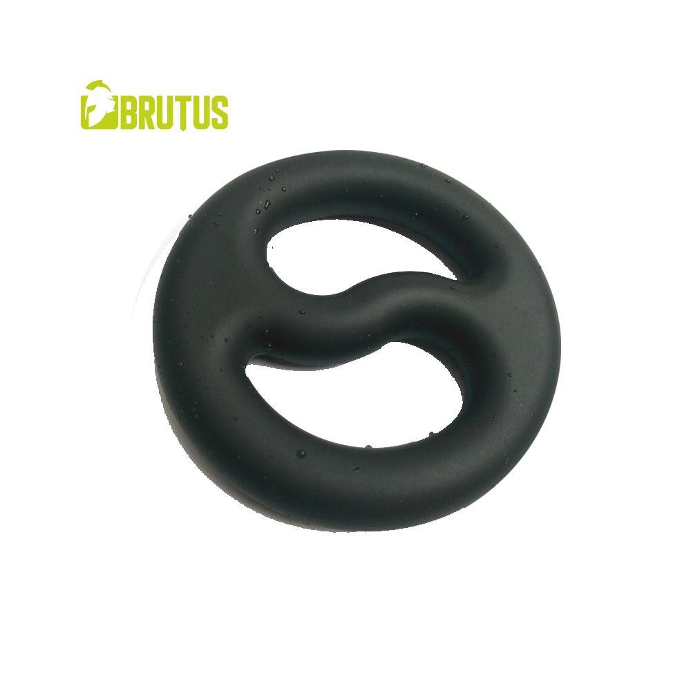 Image of Cock en Ball Duo Ring Yin-Yang - Zwart