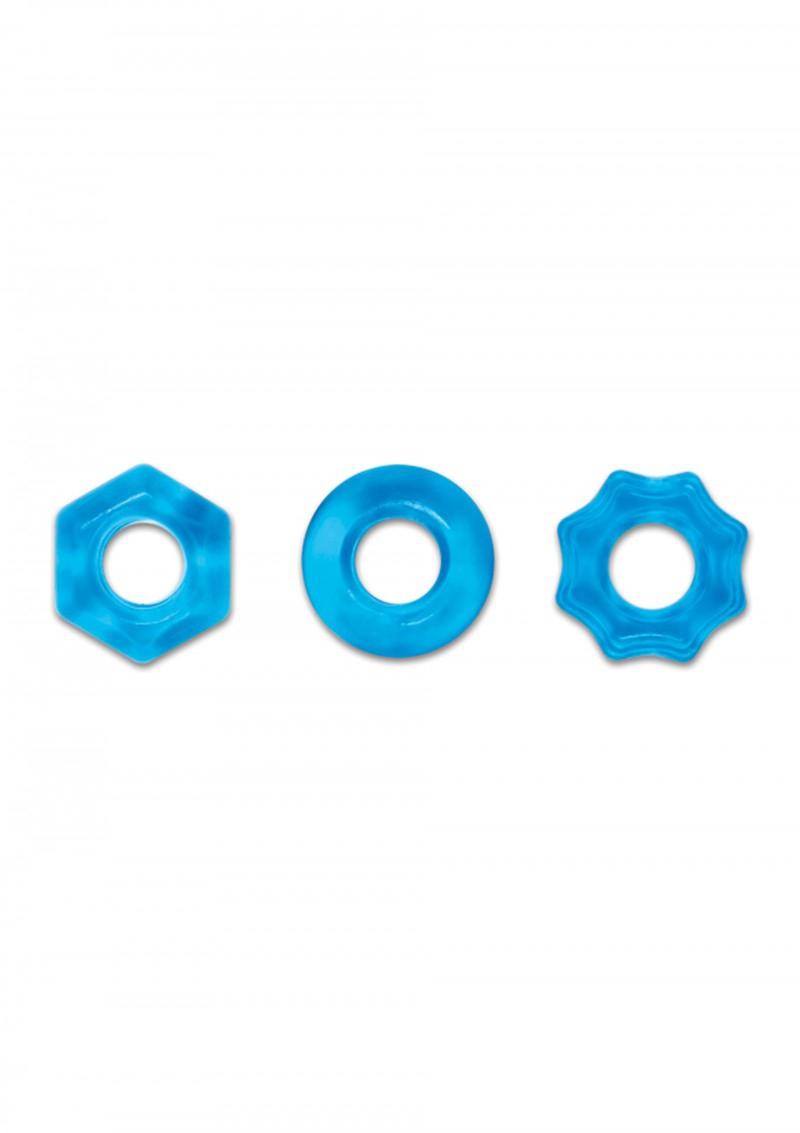 Image of Cockringen Set Renegade Chubbies - Blauw