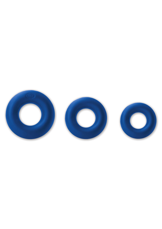 Image of Cockringen Set Renegade Soft Power Rings - Blauw