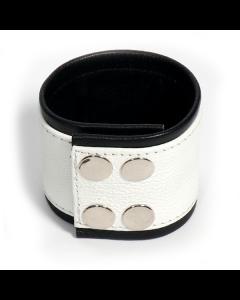 Polsband Wit / Zwart - XL dicht