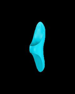Vinger Vibrator Teaser Satisfyer Blauw schuin