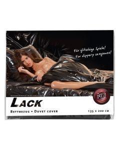Lak dekbed overtrek zwart - Voorbeeld - Verpakking