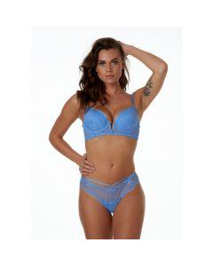 After Eden Fiona String - Blauw model voorkant