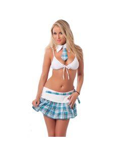 School Uniform - Wit / Blauw