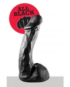 All Black Melvin Dildo - 23 cm