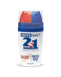 Swiss Navy 2-in-1 Silicone & Waterbasis glijmiddel