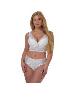 After Eden Fabienne Hoge String - Wit model voorkant met bh