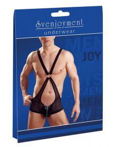 Mannen body met schouderbanden