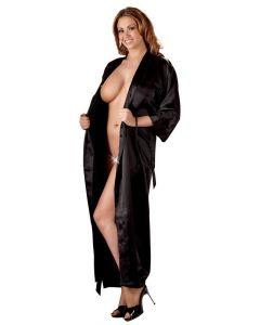 Lange Zwarte Kimono model voor