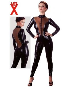Latex Catsuit Zwart
