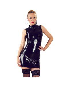 Little Black Latex Dress
