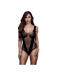 Fishnet Jacquard V Body-One Size