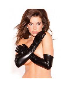 Wetlook Gala Handschoenen Zwart