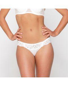 LingaDore Pearl Slip - Wit model voorkant