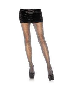 Schitterende Glitter Panty - Zwart / Zilver