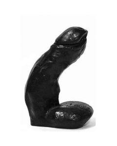 Zwarte dildo - 15 cm