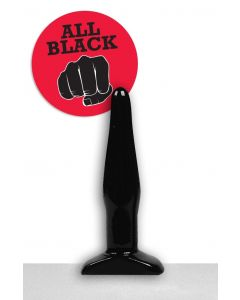 All Black Rick Butt Plug - 12 cm