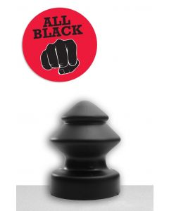 All Black Jan Buttplug - 19 cm