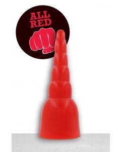 All Black Gijs Dildo - 31 cm red