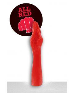 All Black Julian Dildo - 37 cm red