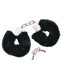 Bad Kitty Pluche Handboeien - Zwart los