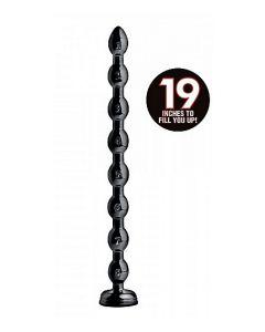 Beaded Anaal Slang met Zuignap - 58 cm