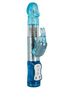 Blauwe Rabbit Vibrator met Roterende Beads kopen