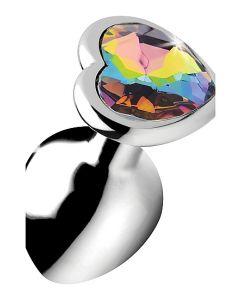 Buttplug Rainbow Prism Heart - Medium onder