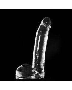 Dark Crystal Transparante Dildo met Balzak Harold - 28 cm