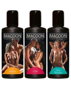 Erotische Massage Olie Magoon - Set van 3 los
