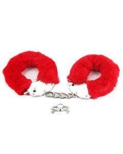 Fluffy Handboeien Fetish Pleasure - Rood sleutels
