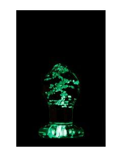 Glazen Buttplug Glow in  the Dark - Firefly los