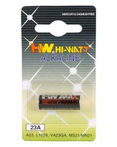 HW Hi-Watt Batterij LR23A - 1 Stuk verpakt