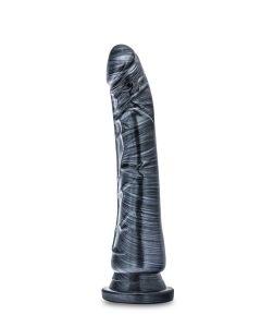 Jet Blaq Carbon Metallic Dildo met Zuignap - 20 cm