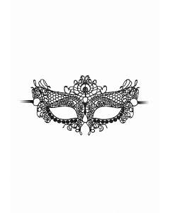 Kanten Masker Queen - Zwart los
