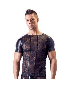 Kanten Shirt Met Wetlook Zijkanten Voorkant