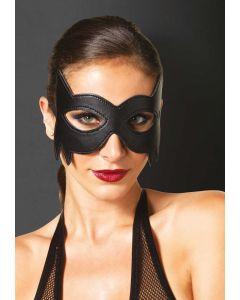 Zwart fantasy masker van kunstleer