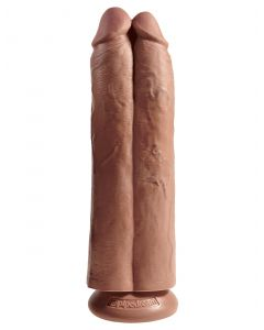 King Cock 11 Inch Dildo - Two Cocks One Hole - Getint