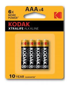Kodak Xtralife 4 X AAA Batterijen