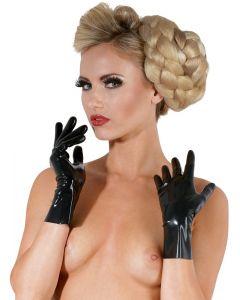 Korte Latex Handschoentjes - Zwart kopen