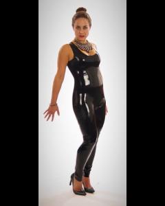 Latex Catsuit Gesloten - Zwart