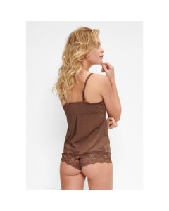 LingaDore Daily Lace Hipster - Hazelnut top + hipster back