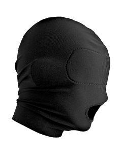Masker met Open Mond - Zwart zijkant