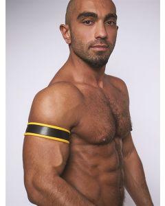 Mister B Biceps Band - Zwart / Geel